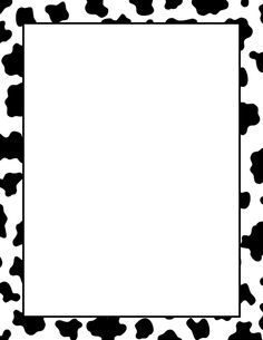 236x305 Cow Print Border Clipart