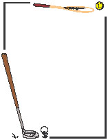 157x203 Free Clipart Of Golf Page Borders