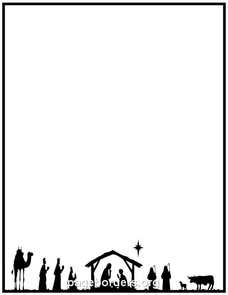 470x608 Nativity Border Clip Art, Page Border, And Vector Graphics