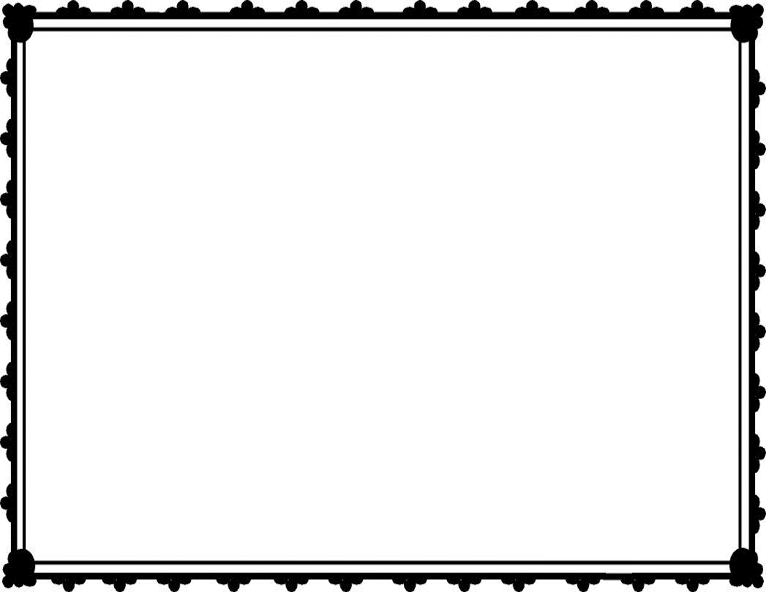 Simple Page Borders Clipart