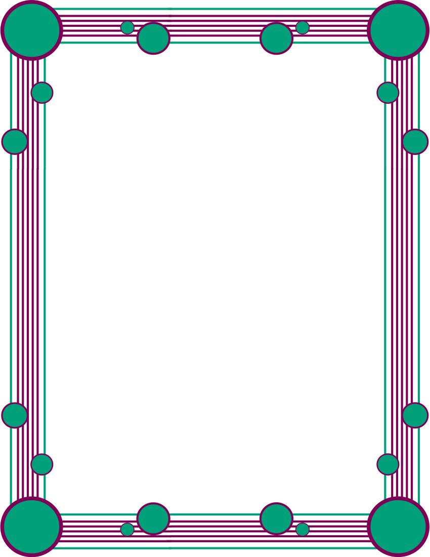 850x1100 Color Clipart Border