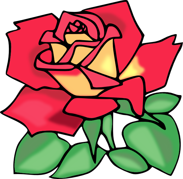 600x588 Simple Rose Clipart