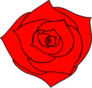 300x288 Simple Rose Clip Art Free Clipart Images