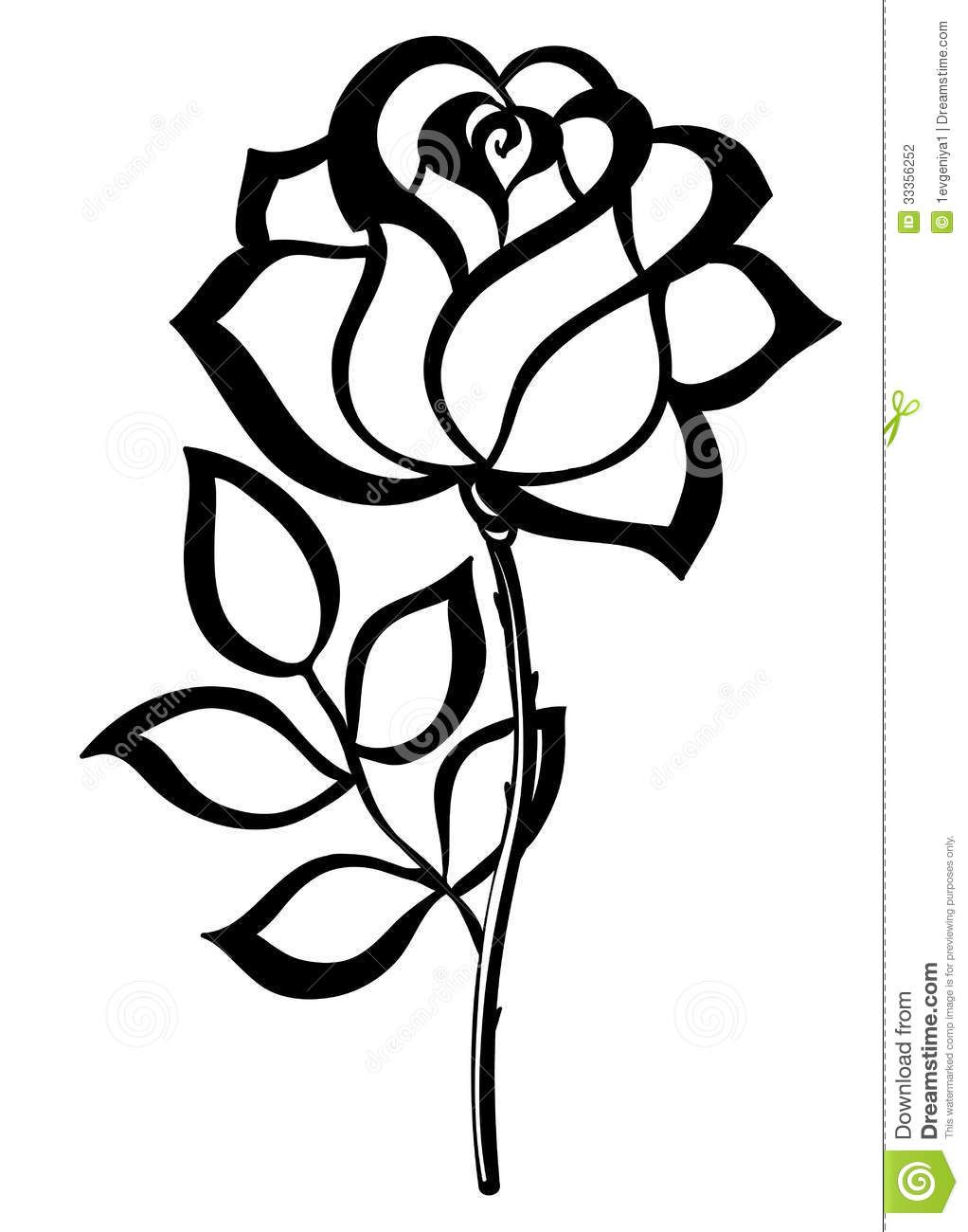 1022x1300 Simple Rose Outline Simple Single Rose Outline Black Silhouette