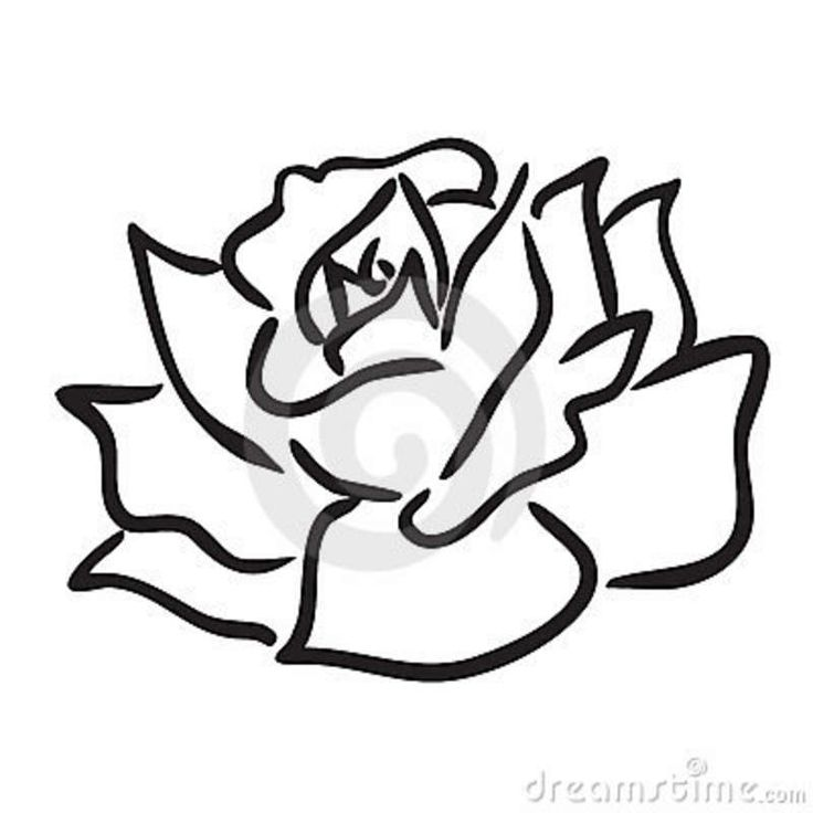 736x736 Coloring Pages Elegant A Simple Rose Drawing Drawn 5 Coloring