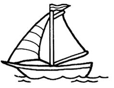 236x182 Free Vector Chalk Sailboat With Birds Outline Vector 1512167