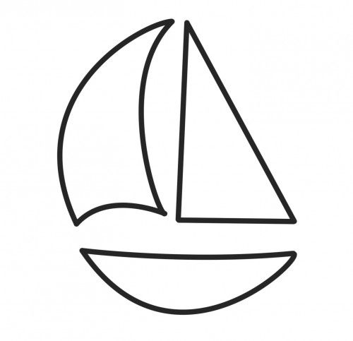 500x483 Sailing Boat Clipart Simple