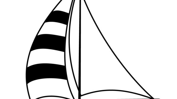 570x320 Simple Drawing Of Boat How To Draw Simple Sailboat