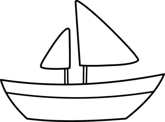550x405 Simple Sailboat Coloring Page