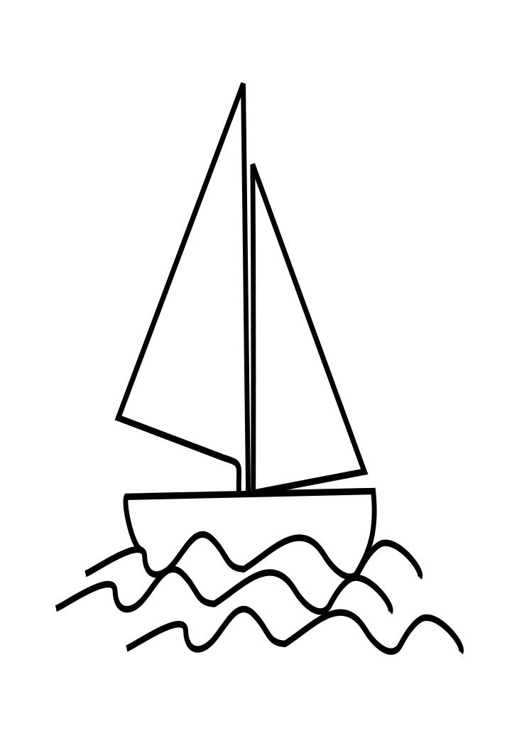 745x1053 Drawn Sailboat Kid