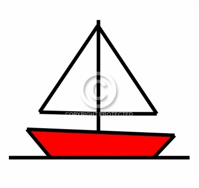 400x377 Drawn Sailboat Simple