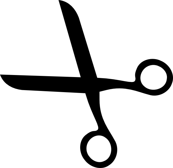 600x580 White Clipart Scissors