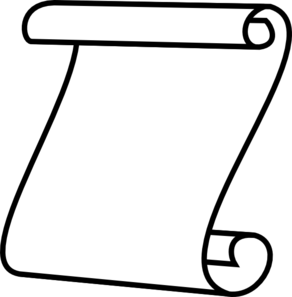292x297 Scroll Clip Art