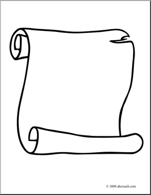 304x392 Scroll Clip Art