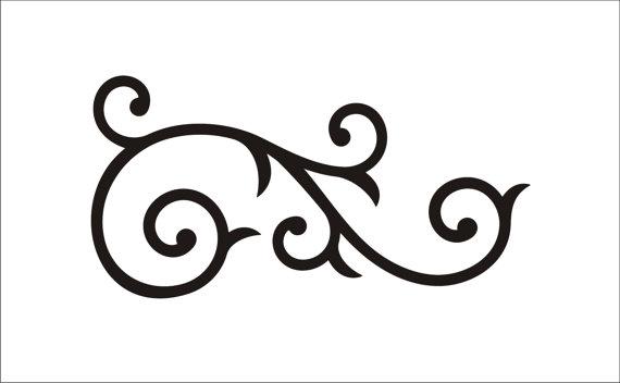 570x352 Scroll Patterns Clipart