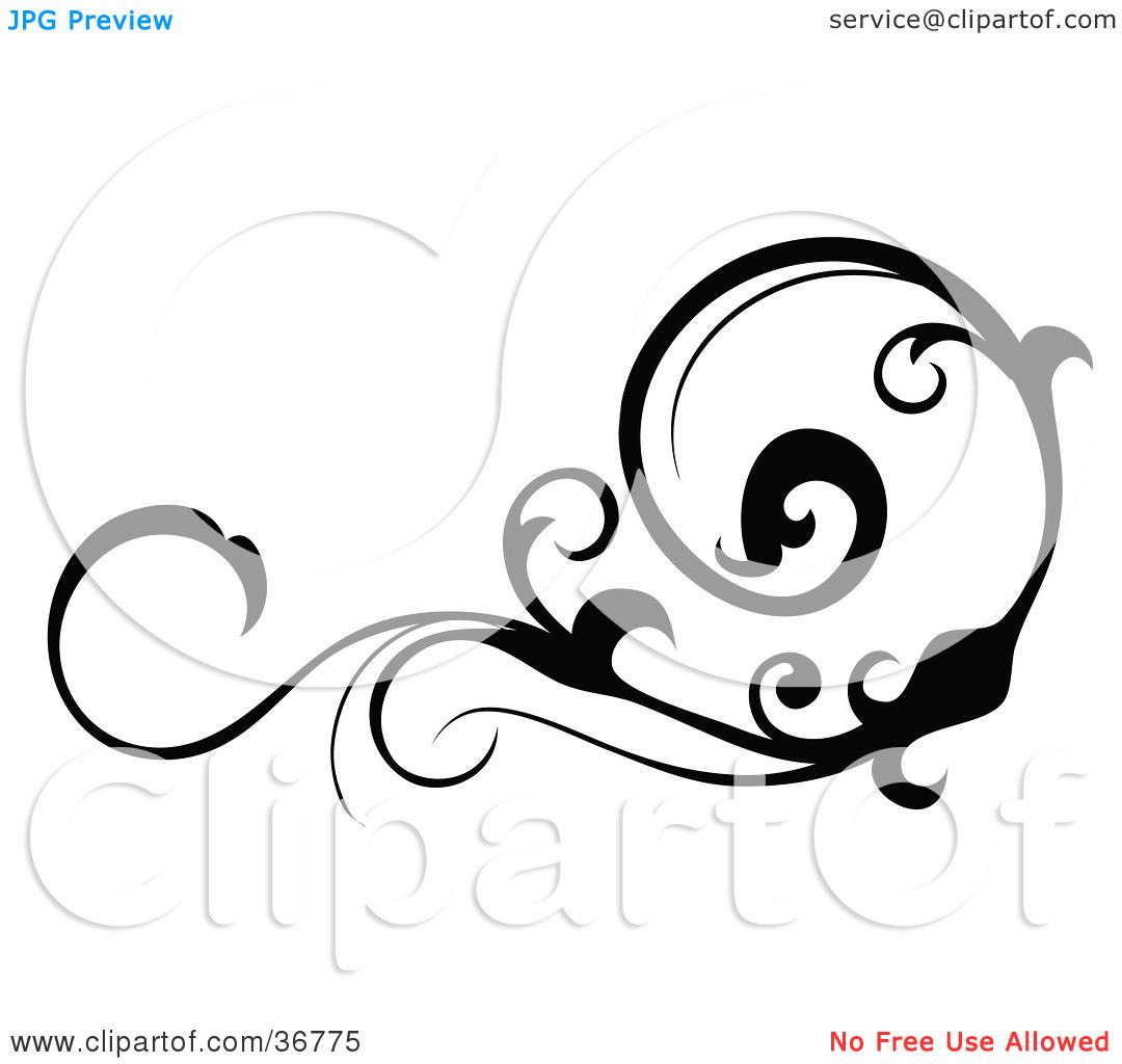 1080x1024 Black Scroll Frame Clip Art Clipart Panda