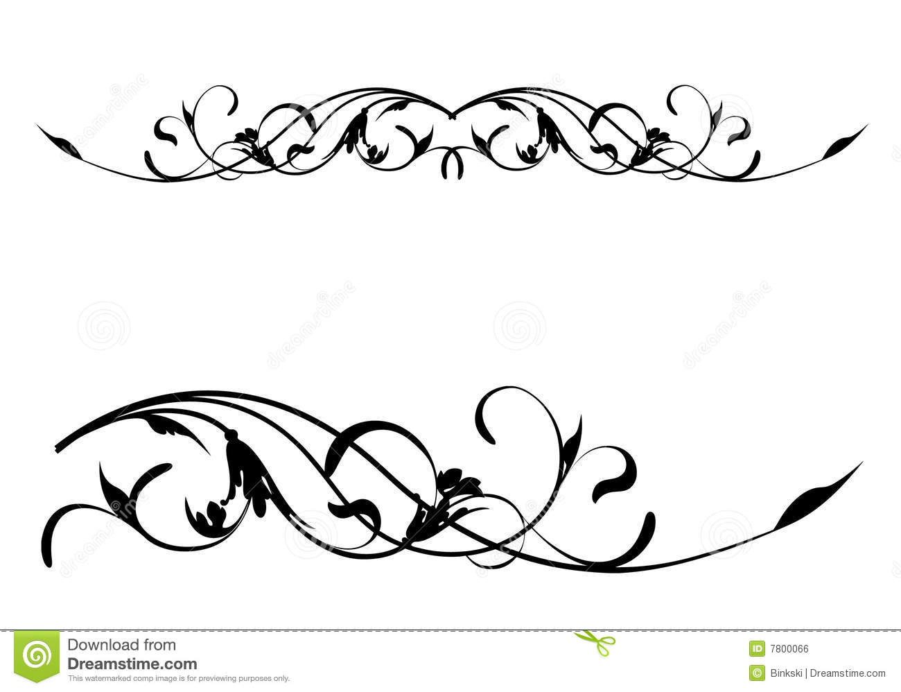 1300x998 Calligraphy Clipart Floral Scroll