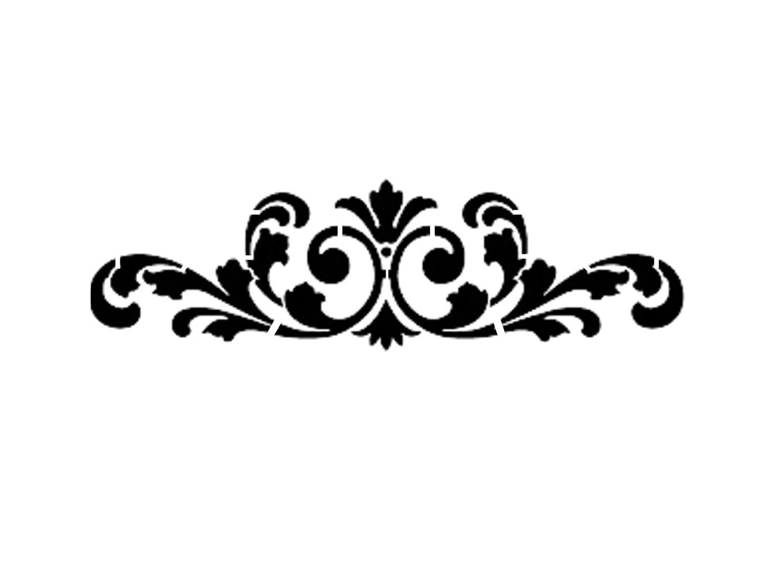 1500x1125 Damask Clipart Simple