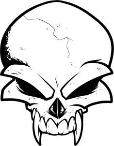 Simple Skull Drawings