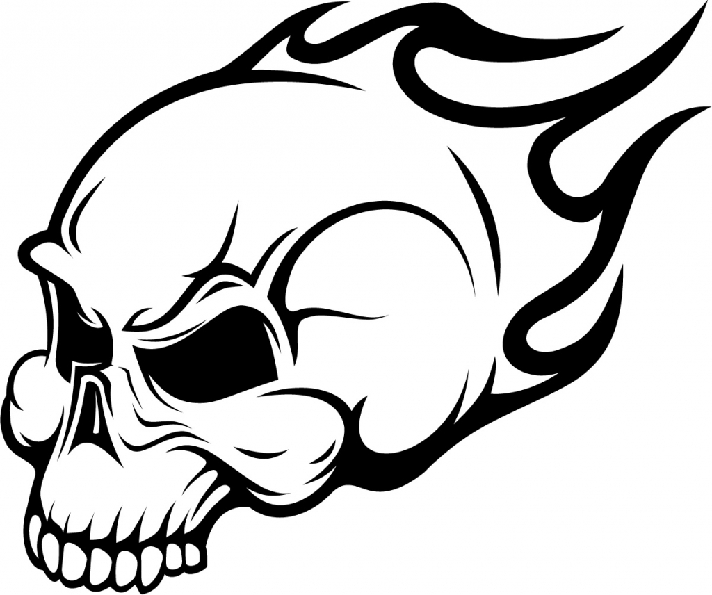 1024x856 Easy Skull Drawings Simple Skull Clipart Clipart Kid