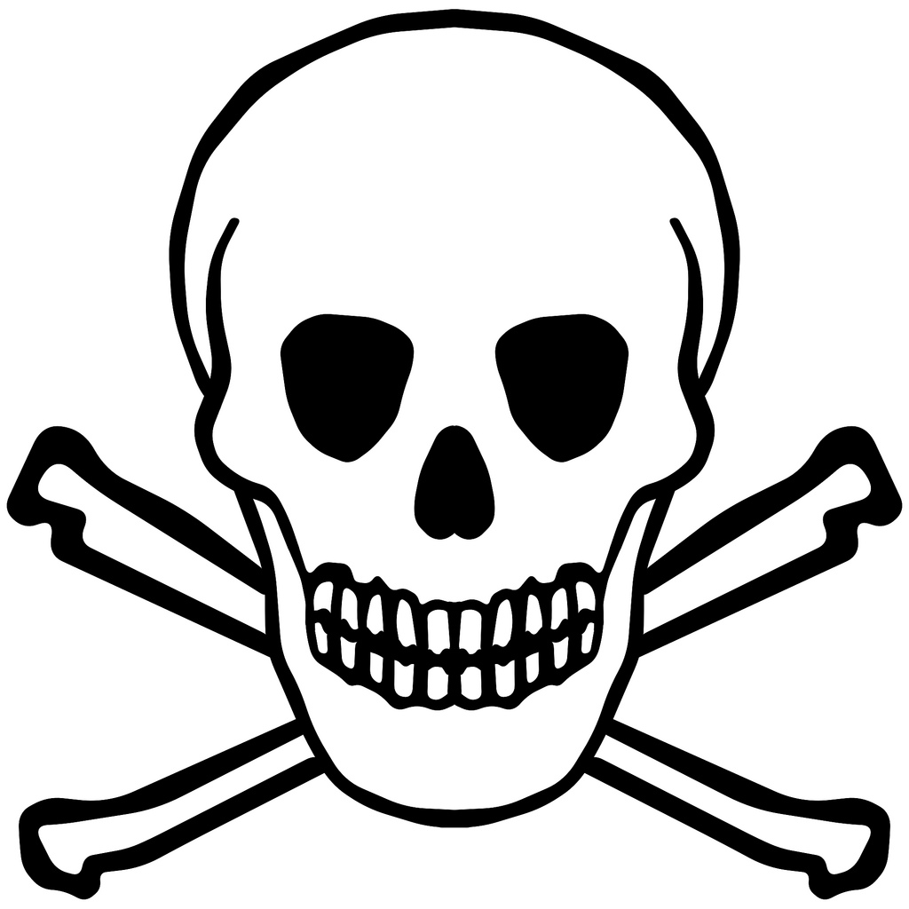 1024x1024 Simple Skull Clipart