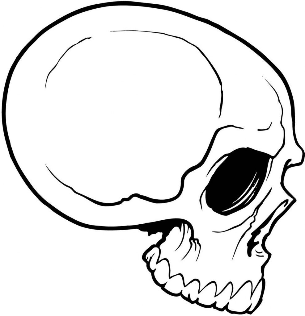 987x1024 Simple Skull Drawing Simple Skull Drawing Clipart Free To Use Clip