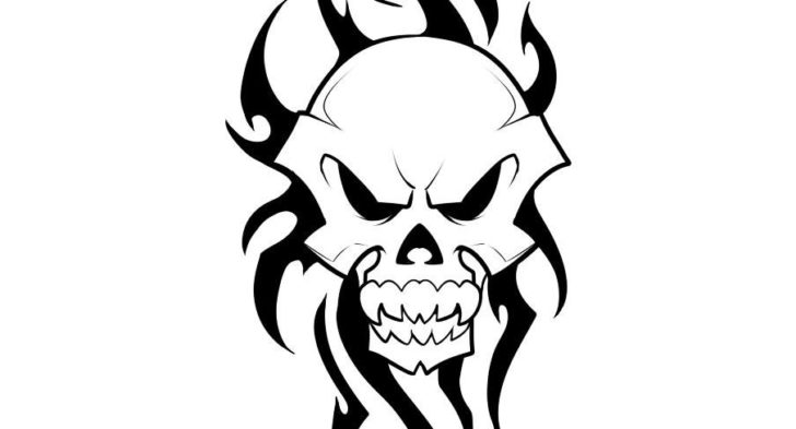 728x393 Simple Skull Tattoo Designs Ideas About Simple Skull Drawing