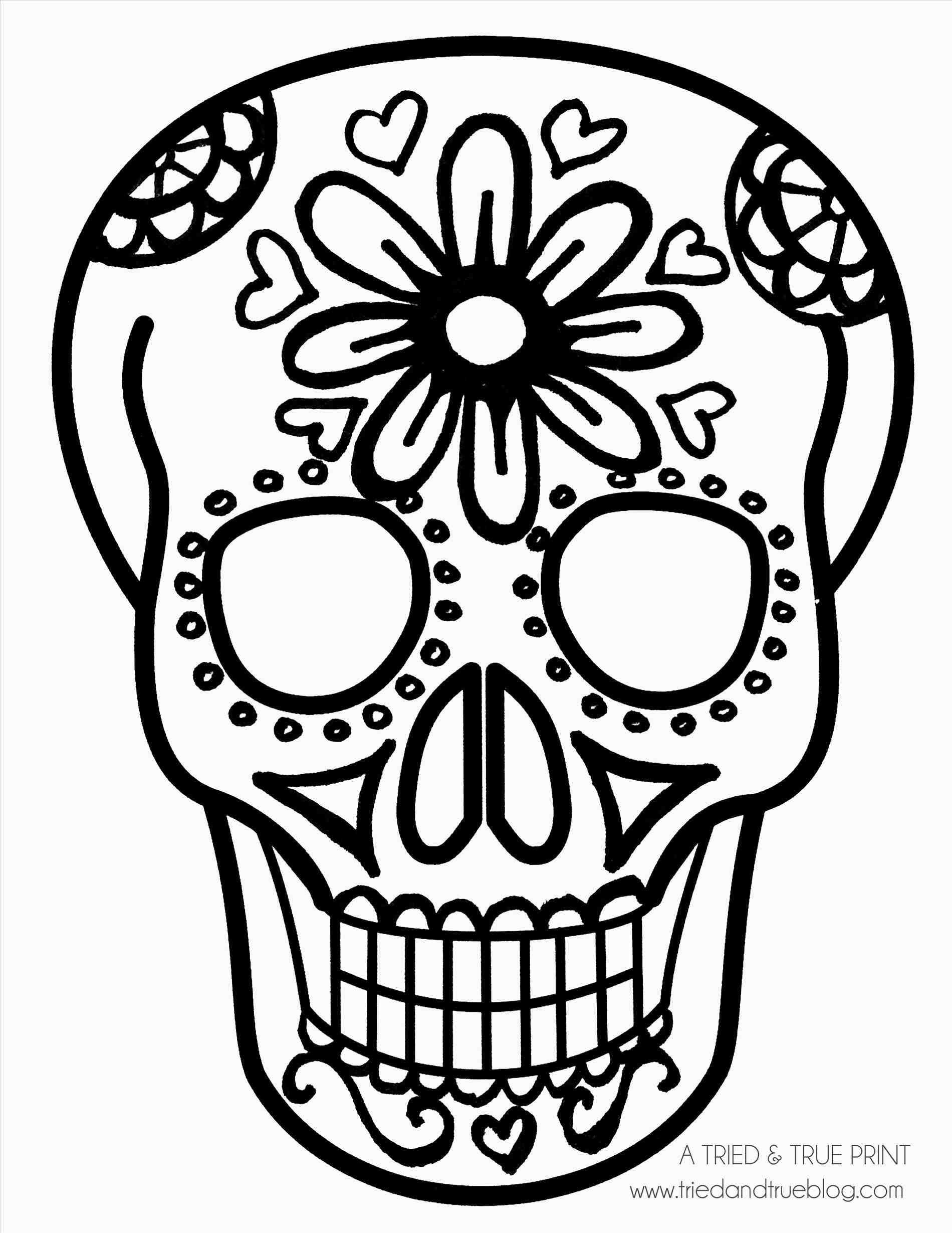 1900x2459 Simple Sugar Skull Drawing