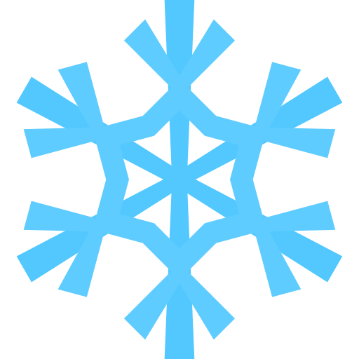 512x512 Simple Snowflake Clipart 2