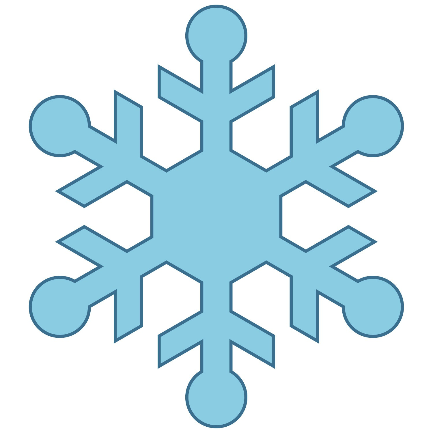 1500x1500 Simple Snowflake Clipart 3