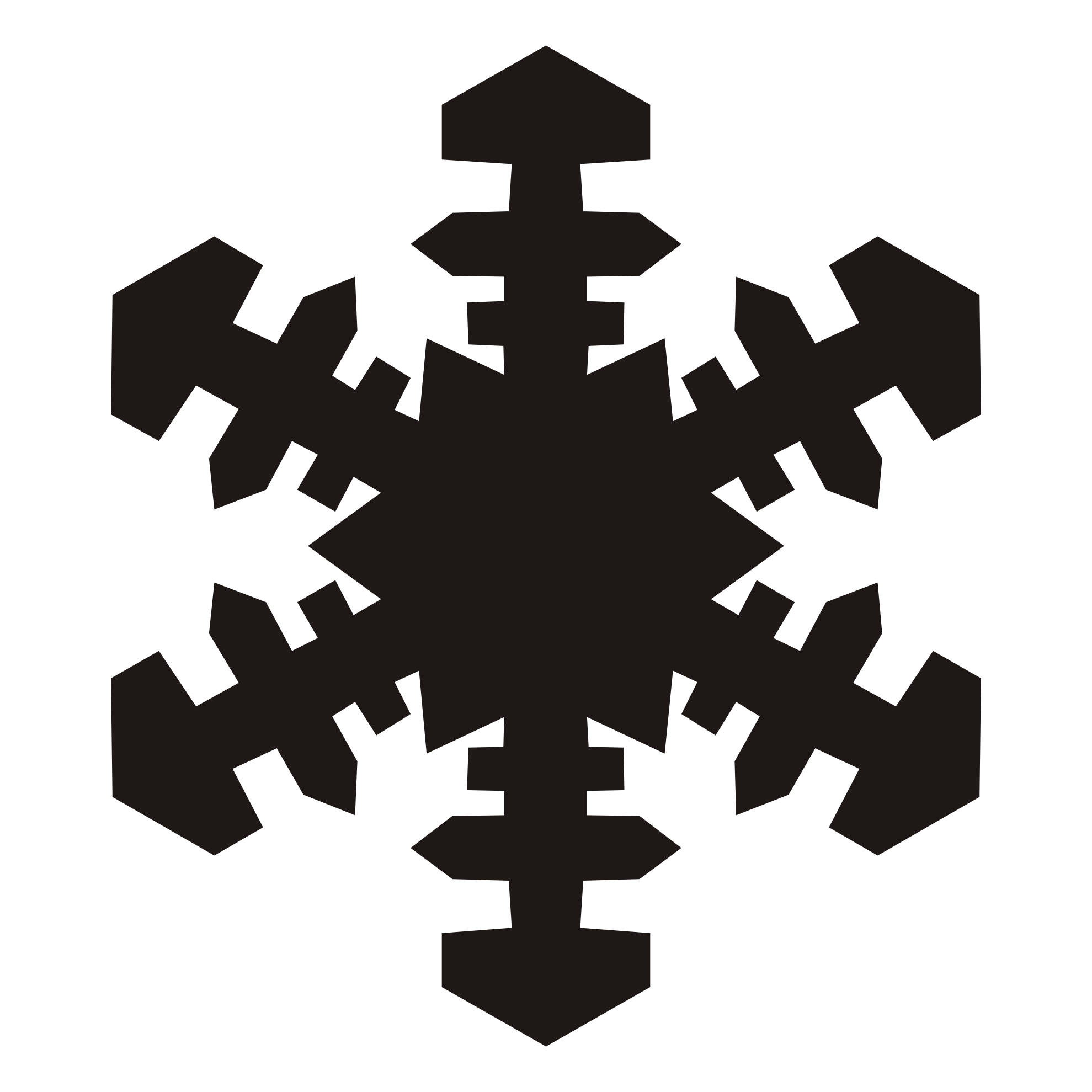 1979x1979 Snowflake Clipart Silhouette