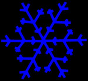299x276 Dark Blue Snowflake Clipart