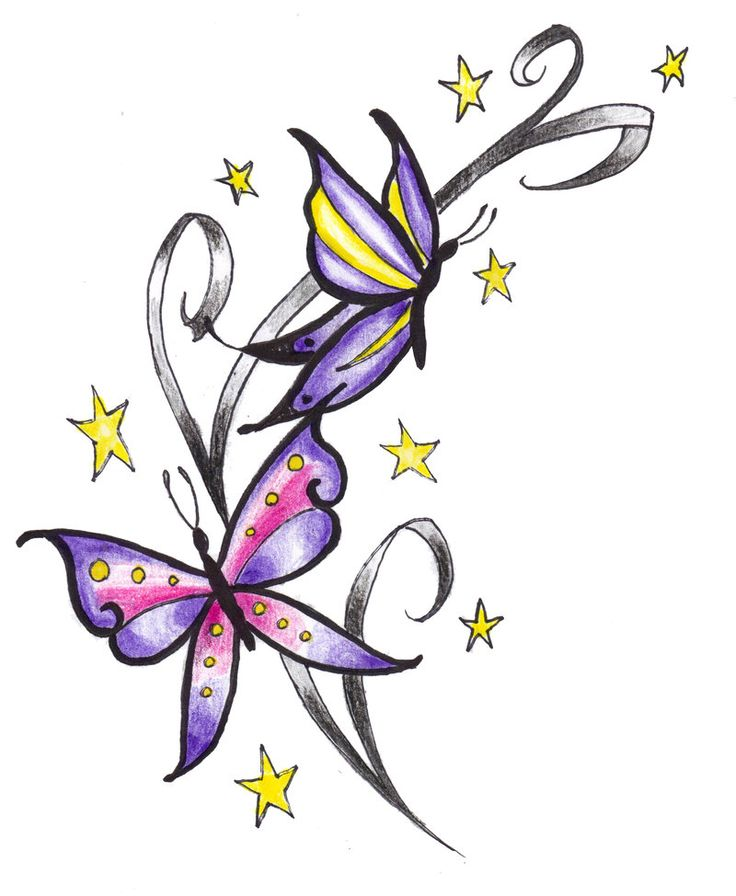 736x896 10 Best Butterfly Star Tattoo Designs Images Flower