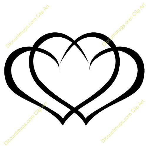 500x500 Clipart 12059 Interlocking Hearts