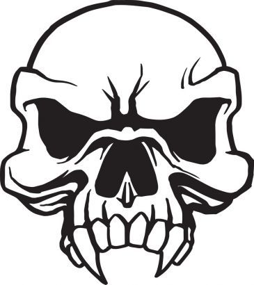 365x410 Learn How To Draw A Skull Tattoo Design, Skull Tattoo Design