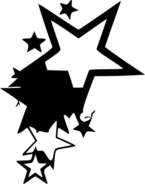 468x592 Star Tattoo Design By Average Sensation Clip Art