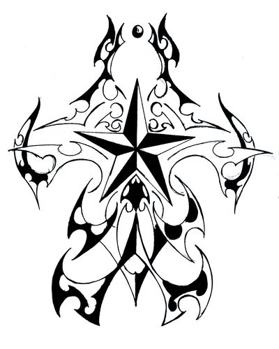 400x500 Star Sleeve Tattoo Ideas
