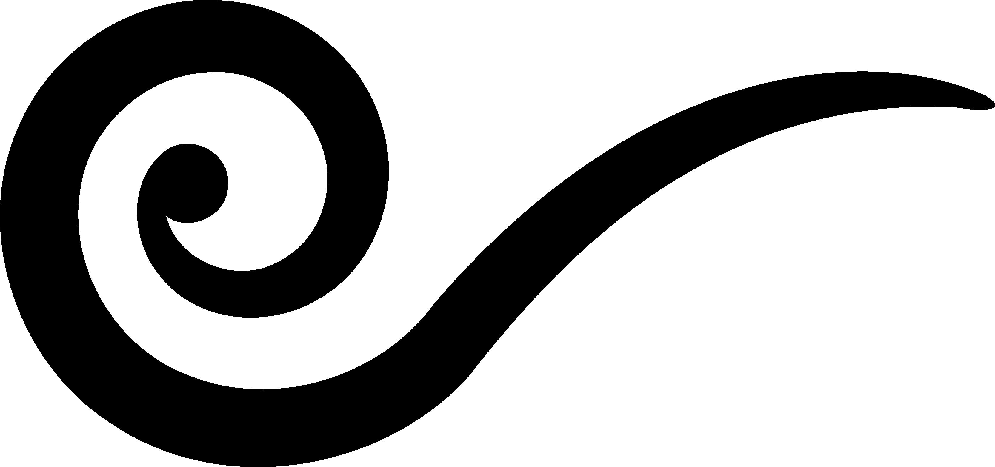 3333x1565 Line Clipart Swirl