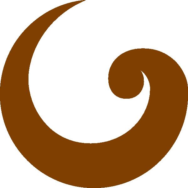 600x600 Simple Swirl Brown Clip Art