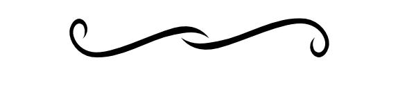 600x152 Swirl Divider Clipart