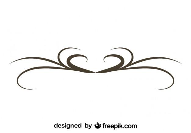 626x438 Simple Swirl Graphic Element Retro Design Vector Free Download