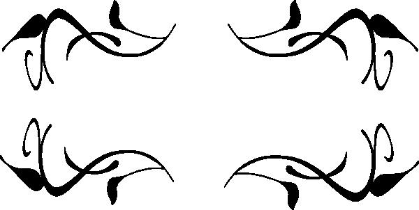 600x302 Swirls Border Clipart