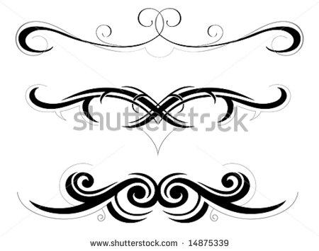 450x355 Decorative Swirls Clipart