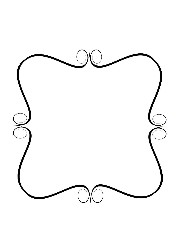 1063x1440 Fancy Swirls Design Clipart Image