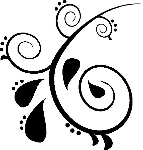570x599 Paisley Swirl Designs Clipart