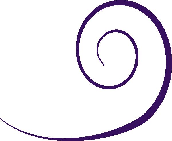 600x490 Plain Swirl Purple Wo Dot Clip Art
