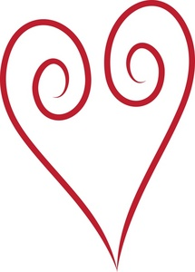 215x300 Red Heart Clipart Image