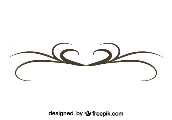 600x420 Simple Swirl Graphic Element Retro Style Vector Graphics Free