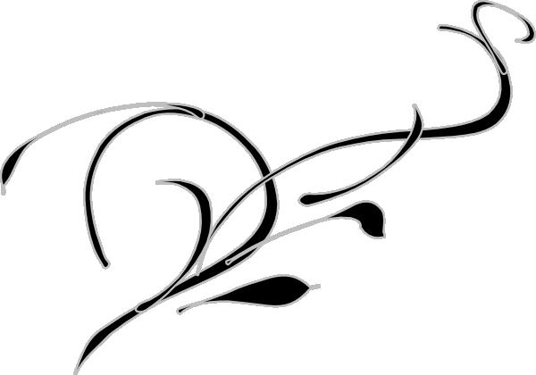 600x420 Swirl Black Amp Gray Turned Clip Art