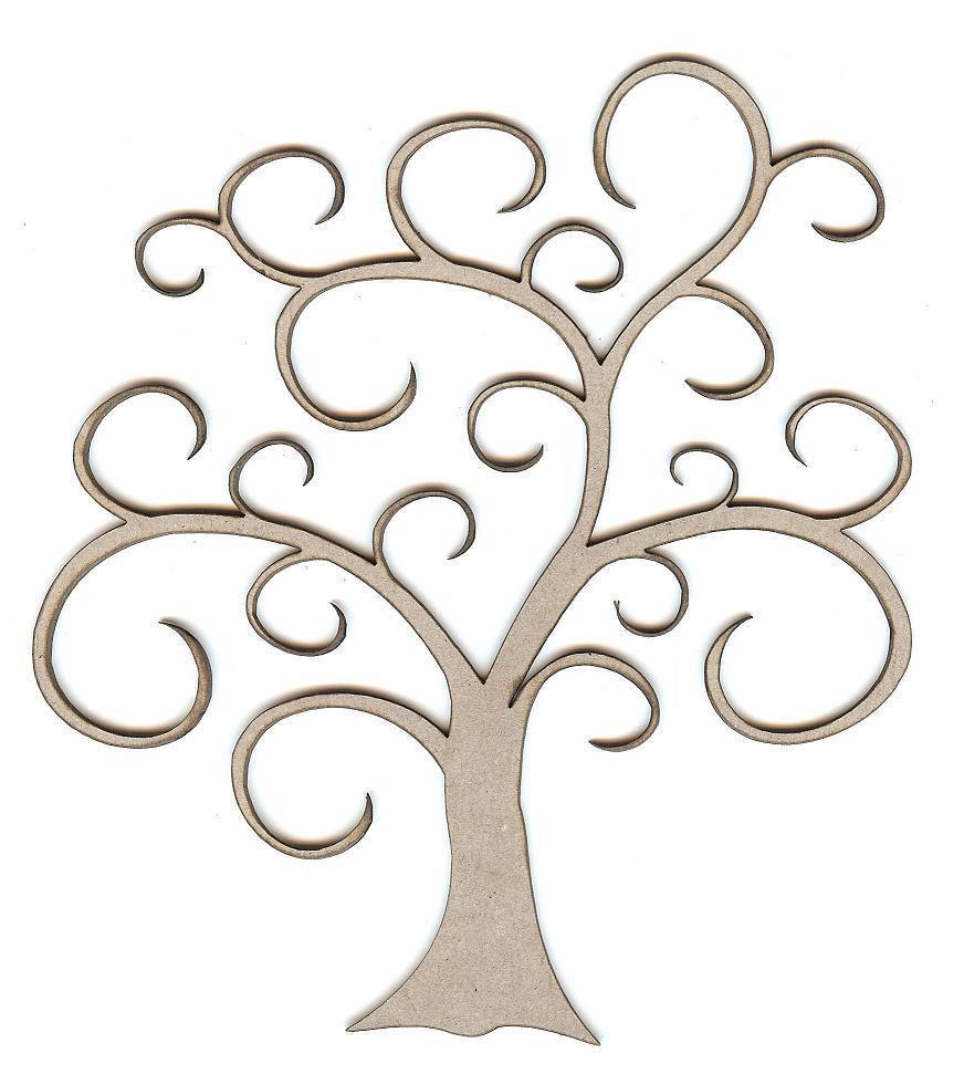 872x971 Swirl Tree Clip Art